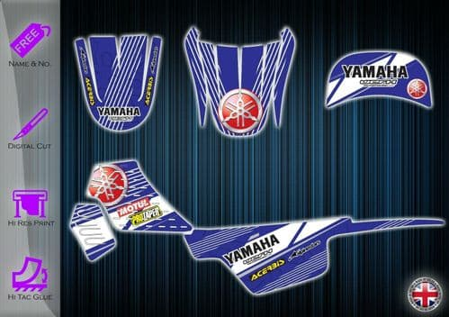 YAMAHA PW50 STICKERS - PW 50 GRAPHICS KIT - PW50 DECALS - PW 50 GRAPHICS KIT - 233938966073
